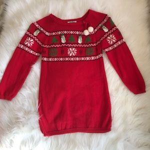 Christmas Snowman Sweater Dress